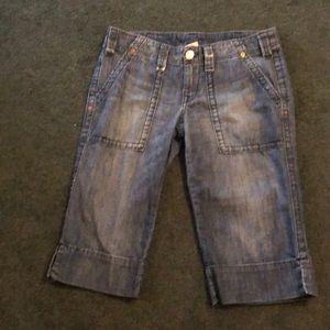 True religion Beth crop shorts jeans
